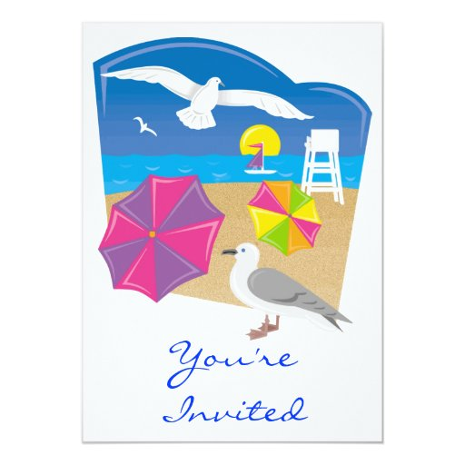 Everything's Just Beachy 5x7 Paper Invitation Card