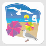 Everything's Just Beachy Square Sticker