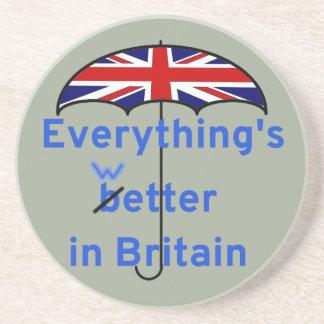 Everything's wetter in Britain! Sandstone Coaster
