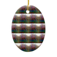 Everywhere- Brightly Colored Jesus Mosaic Ornaments