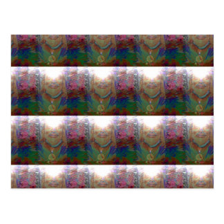 Everywhere- Brightly Colored Jesus Mosaic Postcard