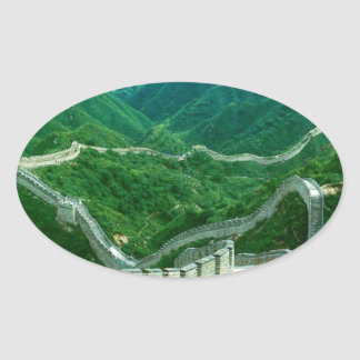 Everywhereness Great Wall Of China Oval Stickers