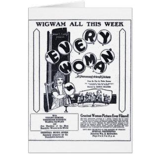 'Everywoman' 1920 vintage movie ad T-shirt Card