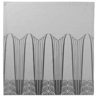 EVE'S BALCONY, Art Deco Ironwork in Shades of Gray Cloth Napkin