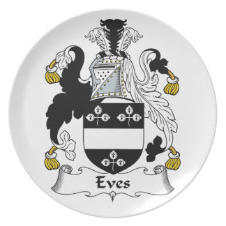 Eves Family Crest Plate