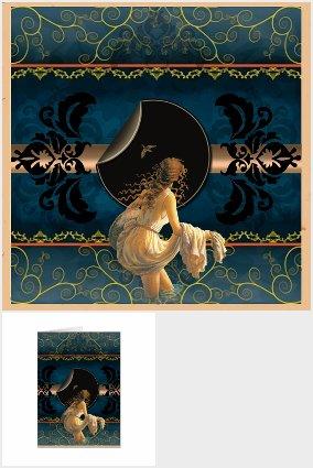 """""""Eve's Midnight"""" OOAK Art"""