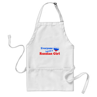 Eveyone loves a Russian Girl Adult Apron