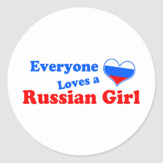 Eveyone loves a Russian Girl Classic Round Sticker