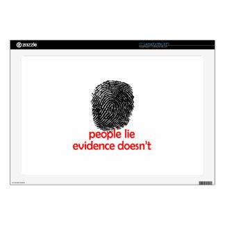 """EVIDENCE DOESNT LIE 17"""" LAPTOP SKIN"""
