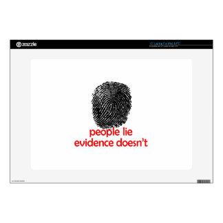 EVIDENCE DOESNT LIE SKIN FOR LAPTOP