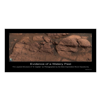 Evidence of a Watery Past on Mars Print