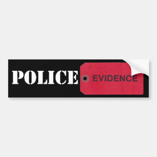 Evidence Tag Bumper Sticker