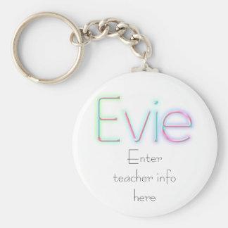 Evie Name Tag Key Chain