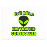 Evil Alien Air Traffic Controller Post Cards