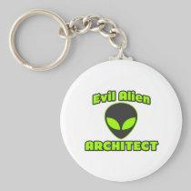 Evil Alien Architect Basic Round Button Keychain