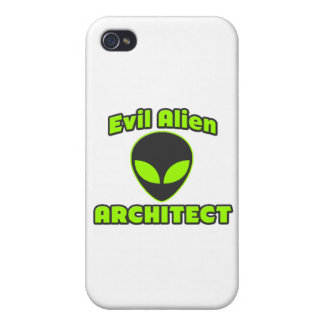 Evil Alien Architect iPhone 4 Cover