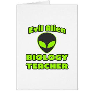 Evil Alien Biology Teacher Card