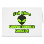 Evil Alien Cardiothoracic Surgeon Greeting Card