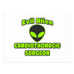 Evil Alien Cardiothoracic Surgeon Postcard
