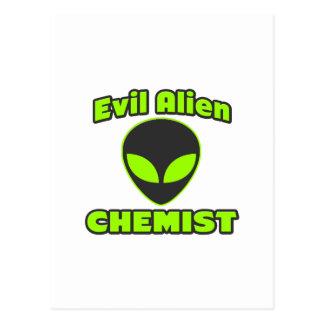 Evil Alien Chemist Postcard
