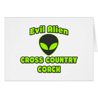 Evil Alien Cross Country Coach Greeting Card