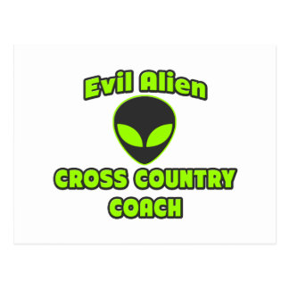 Evil Alien Cross Country Coach Postcard