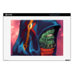 "Evil Alien Diplomat Art by Al Rio 15"" Laptop Skins"