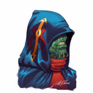 Evil Alien Diplomat Art by Al Rio Cutout