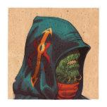Evil Alien Diplomat Art by Al Rio Drink Coaster