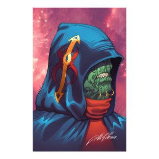 Evil Alien Diplomat Art by Al Rio Flyer