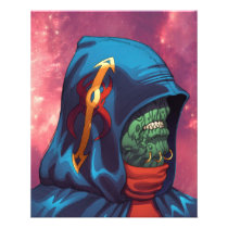 alien, aliens, al rio, evil, invaders, space, ugly, stars, abduction, hoodie, blue, red, green, gold, art, illustration, Flyer with custom graphic design