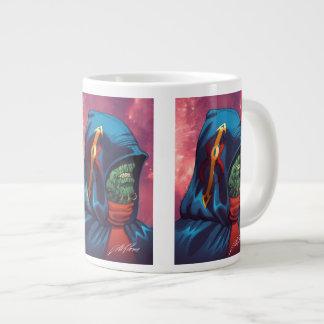 Evil Alien Diplomat Art by Al Rio Giant Coffee Mug