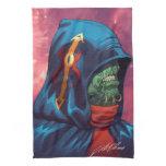 Evil Alien Diplomat Art by Al Rio Hand Towel