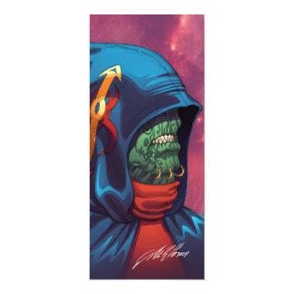 "Evil Alien Diplomat Art by Al Rio 4"" X 9.25"" Invitation Card"