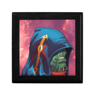 Evil Alien Diplomat Art by Al Rio Jewelry Boxes