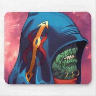 Evil Alien Diplomat Art by Al Rio Mouse Pad