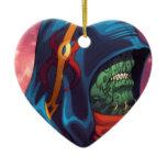 Evil Alien Diplomat Art by Al Rio Christmas Tree Ornaments
