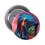 Evil Alien Diplomat Art by Al Rio Pinback Button