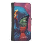 Evil Alien Diplomat Art by Al Rio iPhone 5 Wallet Case