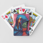 Evil Alien Diplomat Art by Al Rio Bicycle Playing Cards