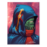 Evil Alien Diplomat Art by Al Rio Post Card