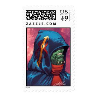 Evil Alien Diplomat Art by Al Rio Stamp