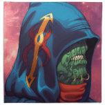 Evil Alien Diplomat Art by Al Rio Printed Napkin