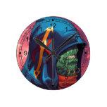 Evil Alien Diplomat Art by Al Rio Round Clock