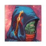 Evil Alien Diplomat Art by Al Rio Wood Coaster
