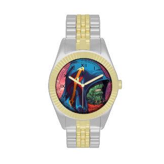 Evil Alien Diplomat Art by Al Rio Wrist Watch