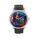 Evil Alien Diplomat Art by Al Rio Wristwatch