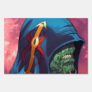 Evil Alien Diplomat Art by Al Rio Lawn Signs