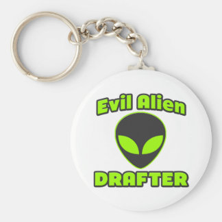 Evil Alien Drafter Key Chains
