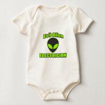 Evil Alien Electrician Baby Bodysuit